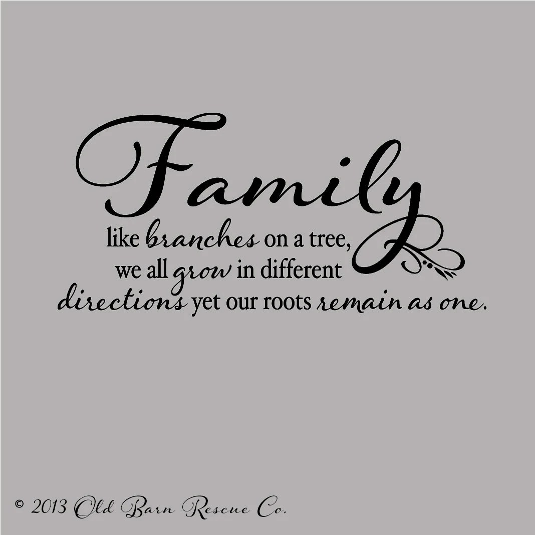 Family Like Branches on a Tree wall decor custom color