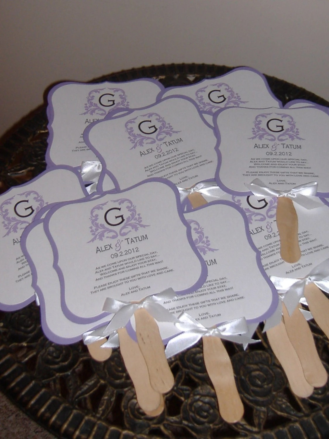 Wedding Fans Wedding Fan Program Wedding Program By Wreathartist