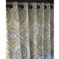 Gold window curtain drapes window treatments