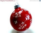 ON SALE 35% OFF Red and White Christmas Ornament - LoveMeOrnamentals