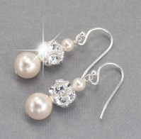 Wedding Earrings Pearl Dangle Earrings Wedding Jewelry for