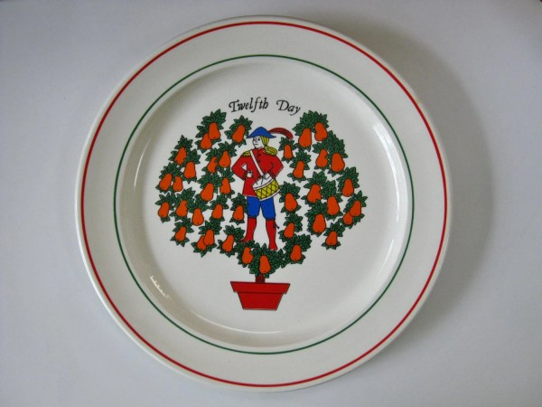 Vintage 12 Days Of Christmas Dinner Plates Decorative