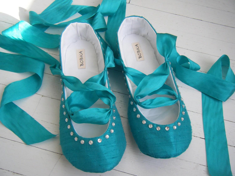 Wedding Ballet Flats With Ribbon