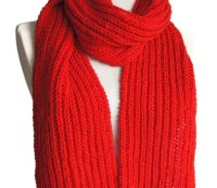 Red scarf Winter knitted scarf red knit scarf Women scarf