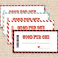 Printable coupons blank coupons in 4 color choices by konadesigns