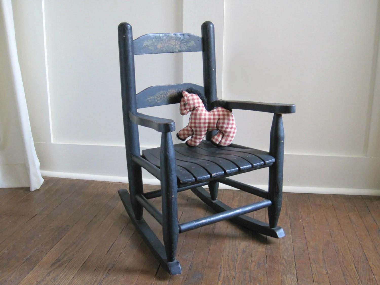 black rocking chairs glider chair plans vintage childs rocker by