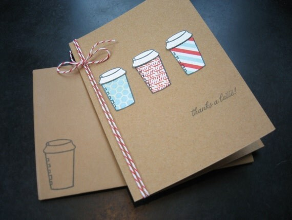 Thanks a Latte Thank You Cards Set of 3
