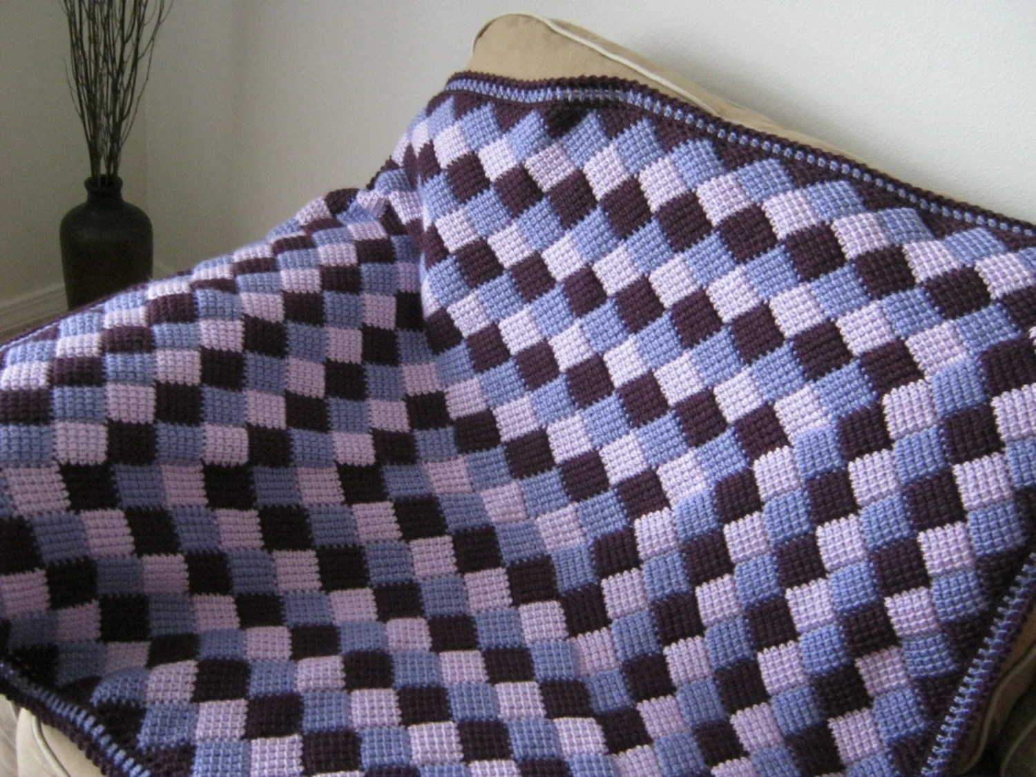 Items similar to Purple Lilac Lavender Crochet Baby