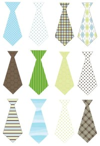 Items similar to Baby boy ties decals iron on or sticker ...