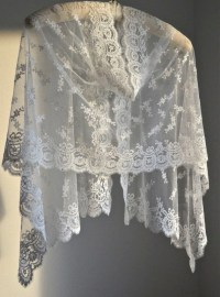 White Lace Wedding Shawl White Lace Wedding Shrug Wedding