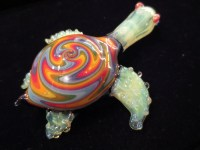 Reserved for Kayhan : Glass Pipe Turtle pipe Glass by ...