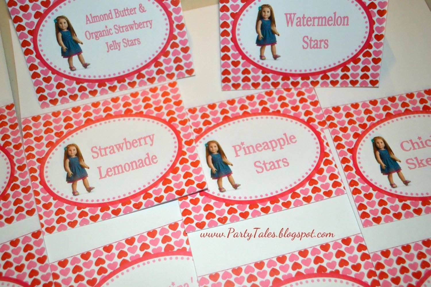 American Girl Doll Printable Valentines Birthday By