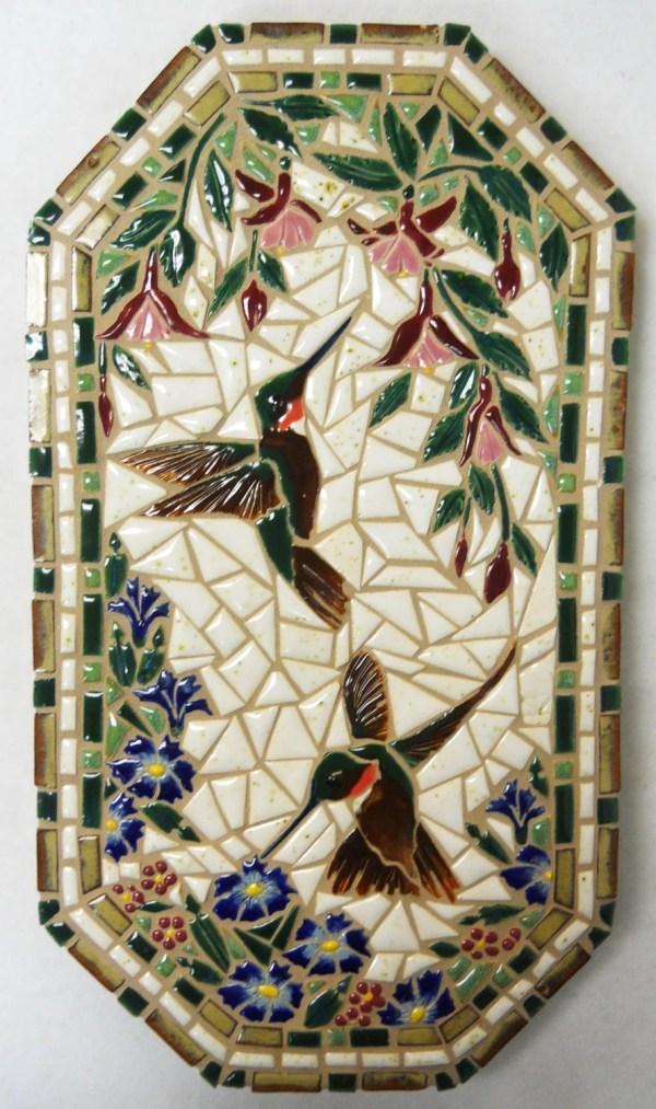 Mosaic Wall Art Handmade Ceramic Tile Houseofwhisperingfir