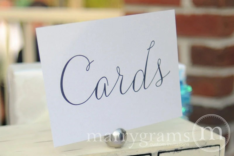 Wedding Cards Table Sign Wedding Table Reception Seating