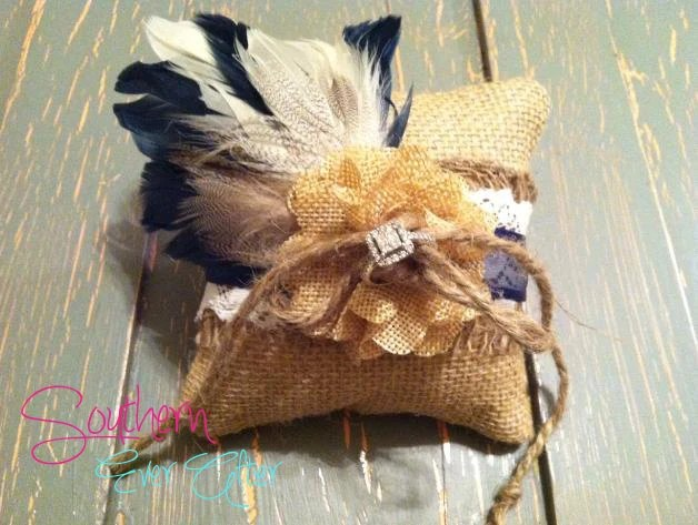 Items similar to DOG RING BEARER Pillow Rustic Burlap