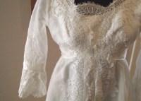 Vintage wedding dress white custom made 1950's Dallas to
