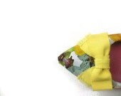 Yellow bow shoe clips - LunaBluandCo