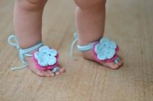 Baby Sandals Barefoot Crochet