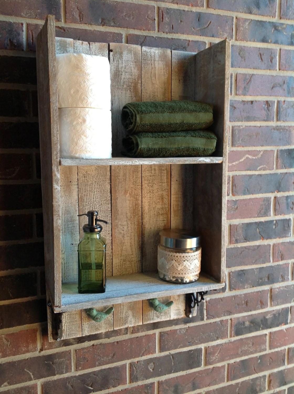 Sweet Southern Charm Reclaimed wood bathroom shelf