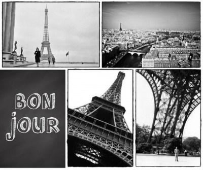 Paris France - Eiffel Tower - Black & White Photography Postcards - MaxAndCoPost