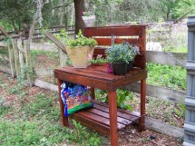 Potting Table Bench Recycled Upcycled Reclaimed