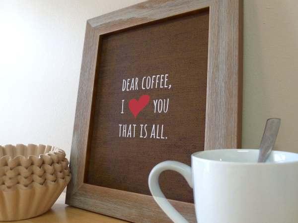 Coffee Sign Kitchen Wall Art Prints Love