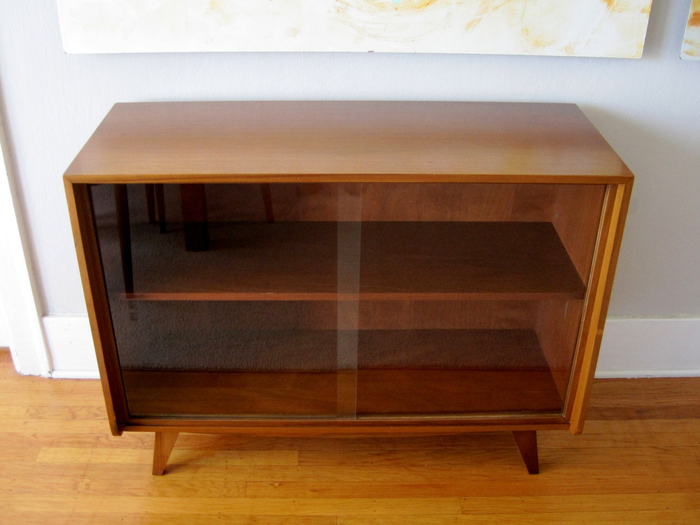 Walnut Mid Century Modern Cabinet Sideboard Media Console