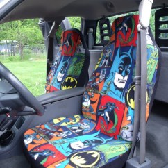 Batman Car Chair Stressless Sizes 1 Set Of Comic Print Seat Covers And Steering