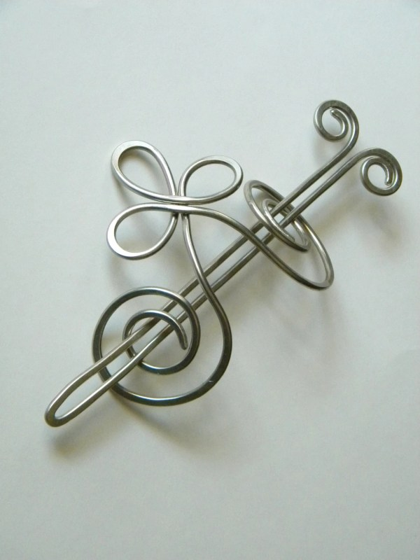 Silver Hair Slide Large Clip Accessories
