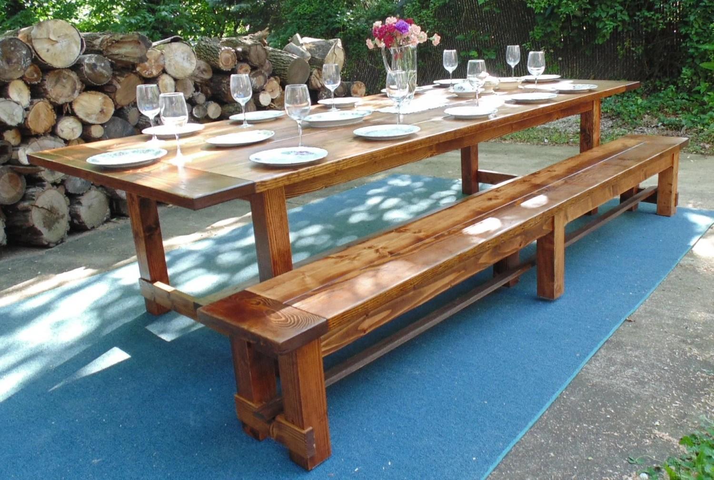 Harford Trestle Dining Table Farmhouse By WonderlandWoodworks