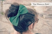 hunter green hair bow myjustpeachyshop