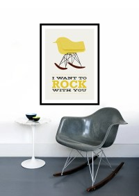 Eames poster print Mid Century Modern chair chair vintage