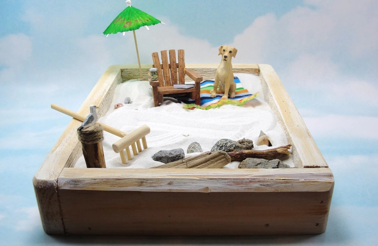 adirondack chair reviews unfinished dining miniature zen beach garden kit dog
