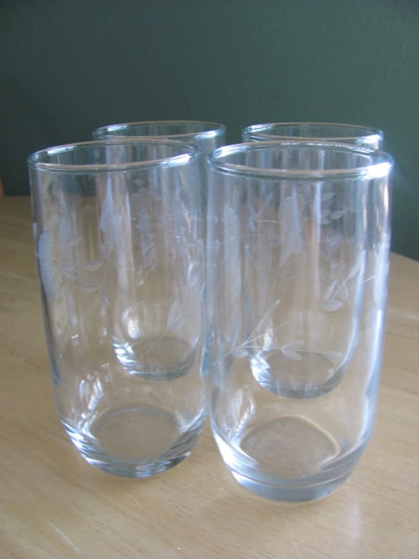 Princess House Crystal Etched Drinking Glasses Heritage