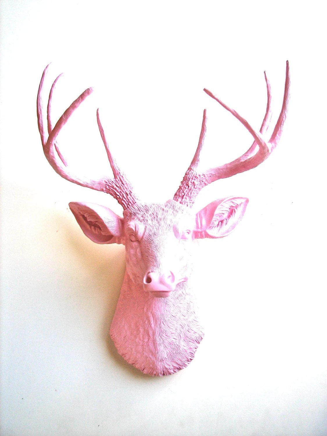 Faux Taxidermy Deer Head Wall hanging Deerman the Deerhead in light pink