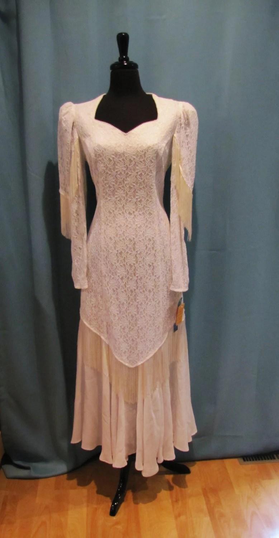 vintage Roper country western fringe wedding dress by VintageTins