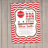 BBQ Invitation / Bbq Birthday invitation / Backyard Bbq