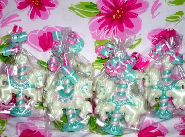 4 3d Carousel Horse Lollipops Favors