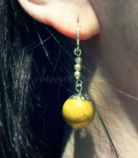 Dragon Ball Z inspired Potara earrings. Pierced or clip on.