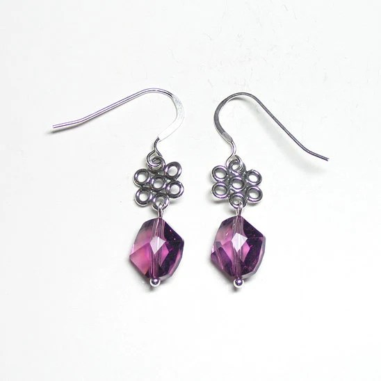 Amethyst cosmic crystal earrings