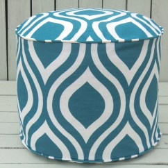 Teal Bean Bag Chair Modern Dining Chairs For Sale Pouf Ottoman Round 18 Turquoise By