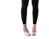SALE, Ruffled black Leggings, Women Leggings, High waist leggings - SharonBoazFashion