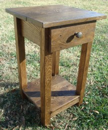 Reclaimed Wood Side Table Small Rustic