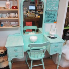Antique Vanity Chair Cordaroys Bean Bag Chairs Circa 20 39s Turquoise And By