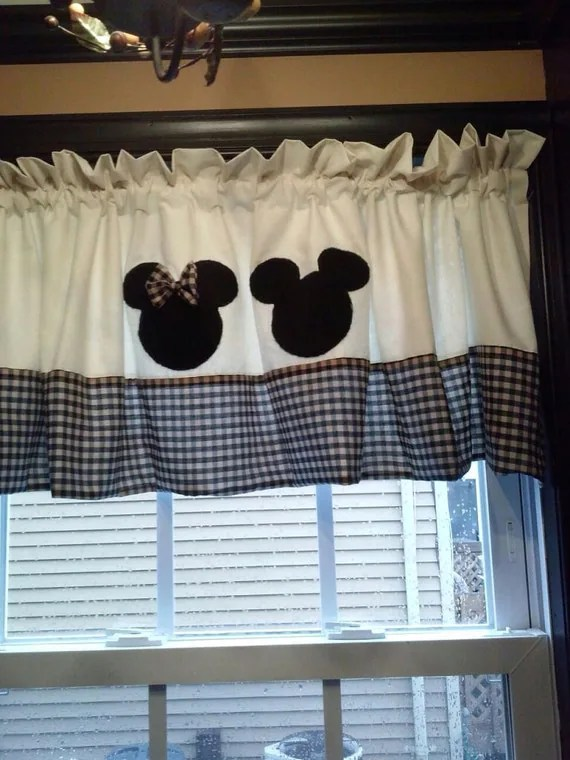 Mickey and Minnie Mouse Curtain Valance by