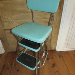 Kitchen Step Stool With Seat Island Modern Vintage Cosco Chair.