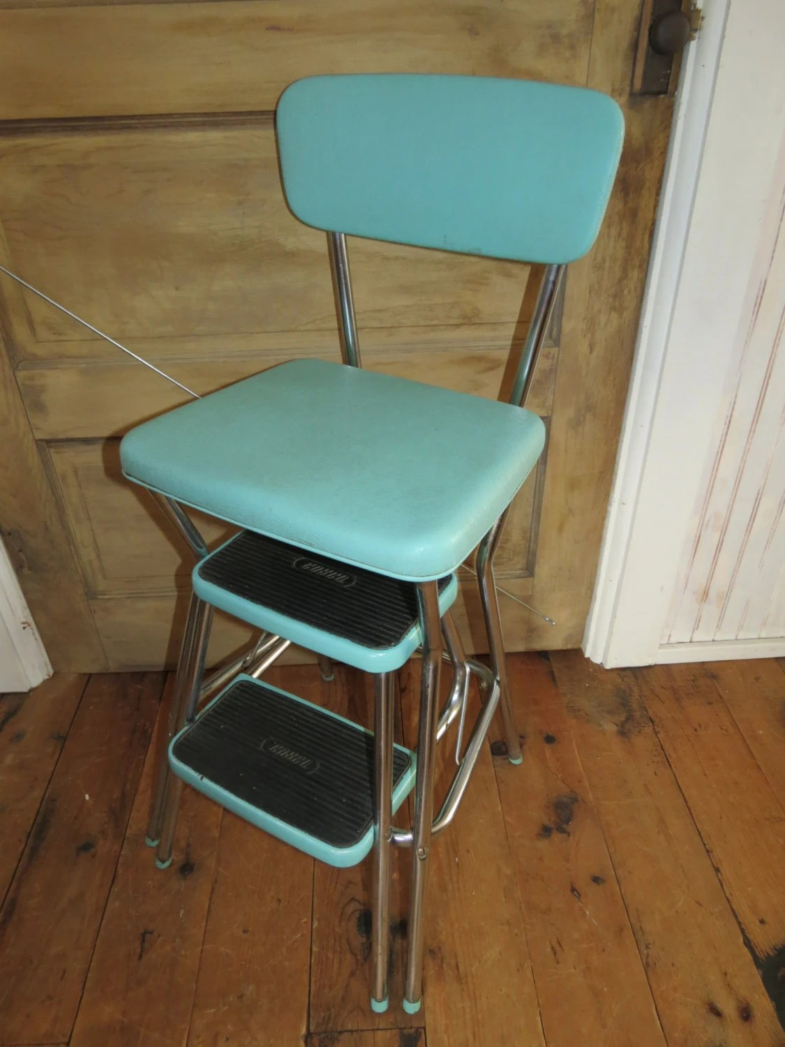 chair step stool leather and a half canada vintage cosco