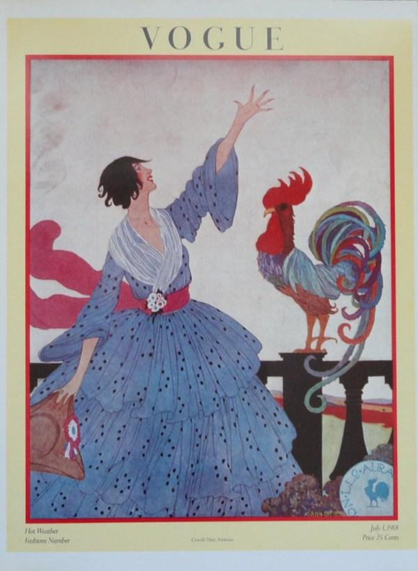 Vintage Poster Art Vogue Poster Fashion Magazine by KingPaper