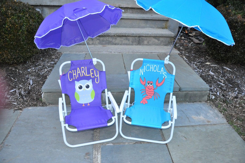 Personalized kids beach chairs  Jawbone  big jambox