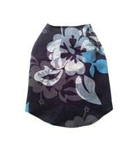 Designer Dog Clothes X Small Blue Hawaiian Hibiscus Dog